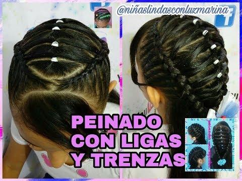 Peinado Con Ligas Y Trenzas Facil Paso A Paso