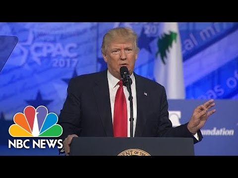 President Trump Demands Sources Be Named For News Stories: 'Let Them Say It To My Face' | NBC News