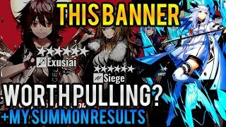 Nearl  - (Arknights) - ARKNIGHTS Why YOU MUST Summon Exusiai Siege Ptilopsis! ARKNIGHTS NEWS - NEW BANNER