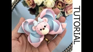🎀 Laço Estilo Bapho - Fita N 5 -  DIY Hair Ribbon Bow