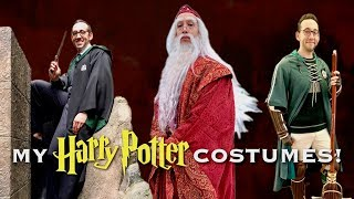 MY HARRY POTTER COSTUMES | Slytherin Student, Quidditch Player, And DUMBLEDORE