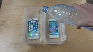 iPhone 7 vs. iPhone SE Water Freeze Test 20 Hours! - dooclip.me