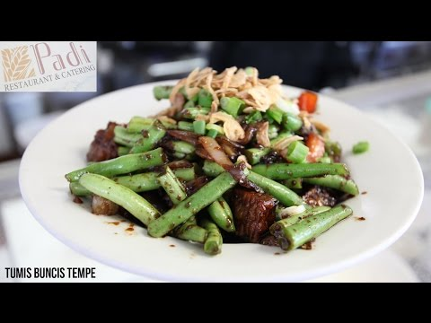 Video KabariNews - Sajian Vegetarian Tumis Buncis Tempe ala Restoran Padi.