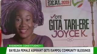Bayelsa female aspirant gets Isampou community blessings