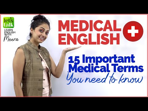 English Medical Vocabulary | Learn English Online | Meera