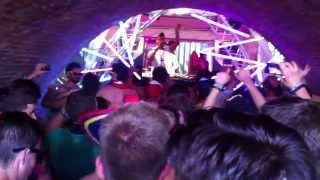 tomorrowland 2013 party in tunnel