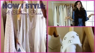 How To Style A Clothing Rack | Whats On My Clothing Rack