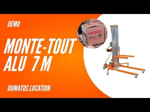 Monte-tout hauteur de levage jusqu'à 7,4m - DUMATOS LOCATION Monte-tout hauteur de levage jusqu'à 7,4m - DUMATOS LOCATION