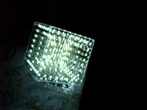 8x8x8 LED Cube (512 white LEDs) by KPY3EP