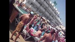 Ibiza 2013, beach party Bora-bora, Playa d