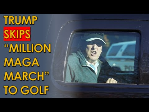 "Trump Drives by ""Million MAGA March"" so he can play Golf leaving supporters Behind"