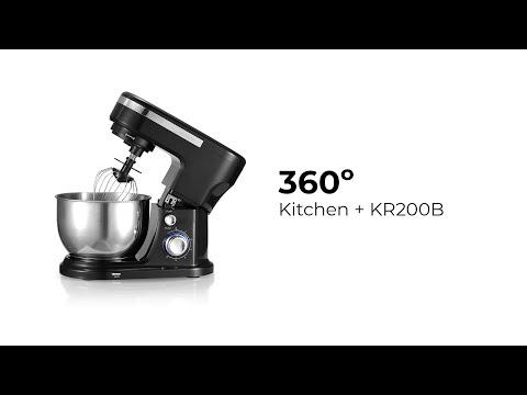 Batidora amasadora Kitchen + reposteria KR200 Negro Prixton 1200W