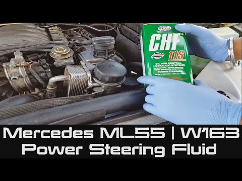 How to change Power Steering Fluid on Mercedes ML55   W163