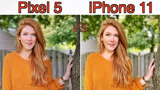 Google Pixel 5 vs Apple iPhone 11 Camera Comparison!