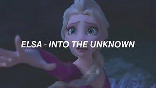 Elsa 'Into The Unknown' Easy Lyrics
