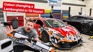 10 HOUR LAMBORGHINI TRANSFORMATION! *NEW WRAP REVEAL*