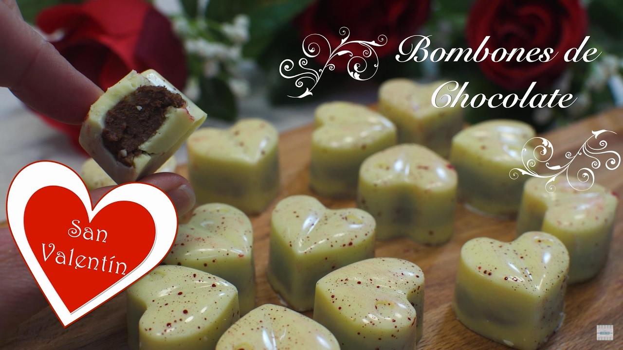 Bombones de Chocolate Caseros | Bombones Para San Valentin | Bombones Caseros | Bombones Chocolate