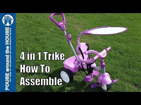 Little Tikes 4 in 1 trike assembly. How to assemble 4 in 1 trike!