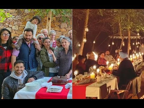 Saif- Kareena And Others Pose For A Pic On Sharmila Tagore's Birthday | SpotboyE