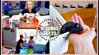 CUTE HAMSTER | What I Got My Kids For Christmas & More Wrapping | Vlogmas