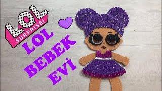 Lol sürpriz, Purple Queen ve Lila tonlarda Lol Bebek Evi. Derin' in aktivite kitabı. Quiet book.