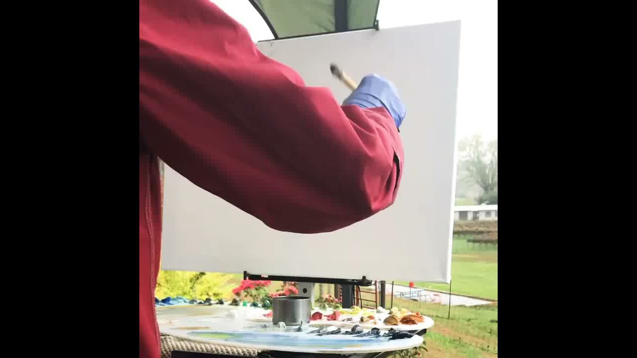 Plein air painting demo at Stonewall Creek Vineyards