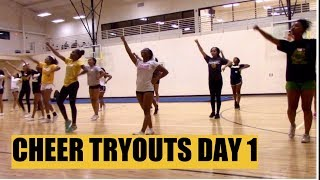 CHEER TRYOUTS   DAY 1: Tumbling & Cheers