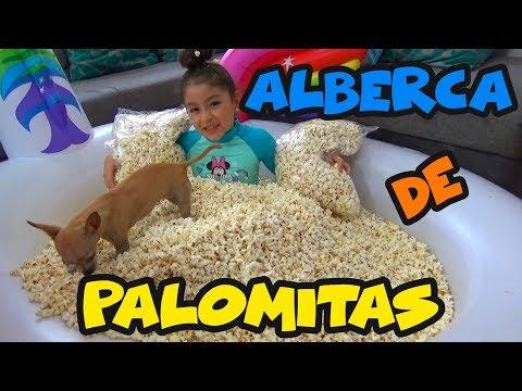 ALBERCA DE PALOMITAS, NANCY SIRENA Y PÍCHU | PISCINA DE UNICORNIO | RETO | CHALLENGE // YESLY