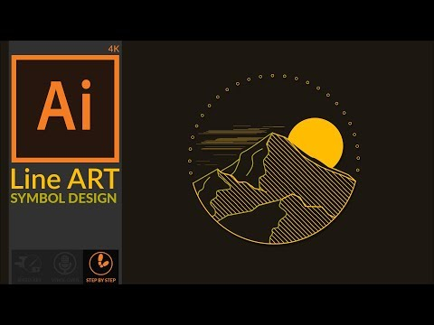 Designing a Linear Style Line art symbol design in Adobe illustrator CC