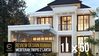 Video Desain Rumah Klasik Modern 2 Lantai Ibu Nurul di  Ponorogo, Jawa Timur