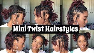 7 Quick Mini Twist Hairstyles | Natural Hair