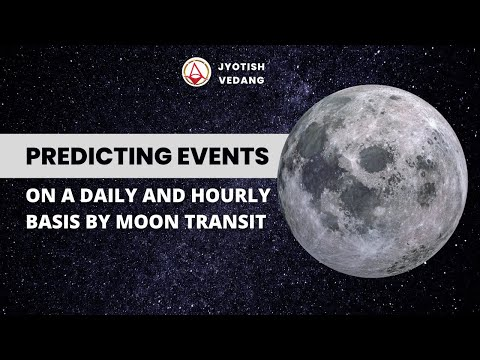 Predicting events on a daily and hourly basis by Moon