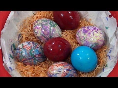 Τhecook.gr - Βάψιμο αβγών με κλωστές