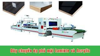 Chuyền phủ mặt Acrylic và Laminate dùng keo chống ẩm PUR tại Hà Nội