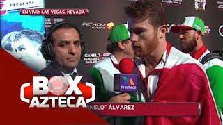 Abel Sánchez me quería empujar: Canelo | 'Canelo' vs Golovkin