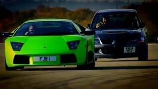 Evo Vs Lamborghini Part 1   Top Gear   BBC