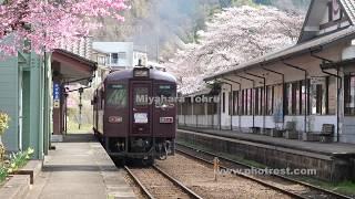 わたらせ渓谷鐵道の動画素材, 4K写真素材