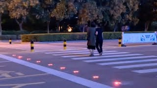 Smart zebra crossing used to promote road safety in eastern China