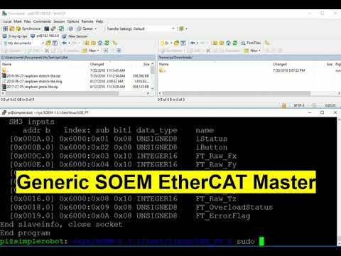 EtherCAT Master performance test on Raspberry pi | Simple Robot