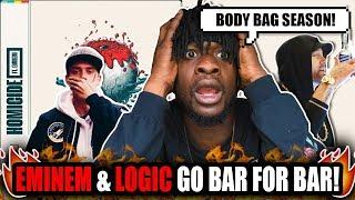 Eminem & Logic Go Bar For Bar! | Logic Ft. Eminem   Homicide (REACTION!)