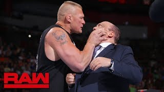 Brock Lesnar snaps and attacks Paul Heyman: Raw, July 30, 2018