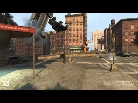 GTA IV Funny Stuff, Death, Crashes 1 TBOGT