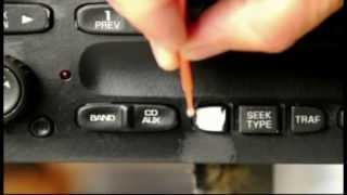 Worn peeling automotive radio buttons. Easy repair