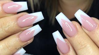 Pink & White Set   Acrylic Nails