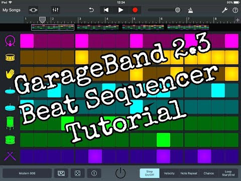 GARAGEBAND 2.3 – The BEAT SEQUENCER in Detail – Tutorial for the iPad