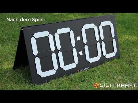 SICHTKRAFT® Spielstandsanzeige GS4D mit A-Aufsteller-Set