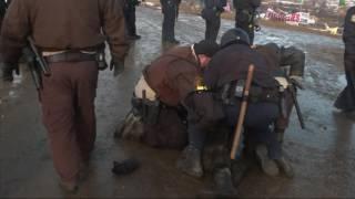 Raw: Pipeline Protestors Clash With Police
