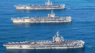 🔥 Несокрушимая сила свободного мира / Три атомных авианосца ВМС США в Японском море