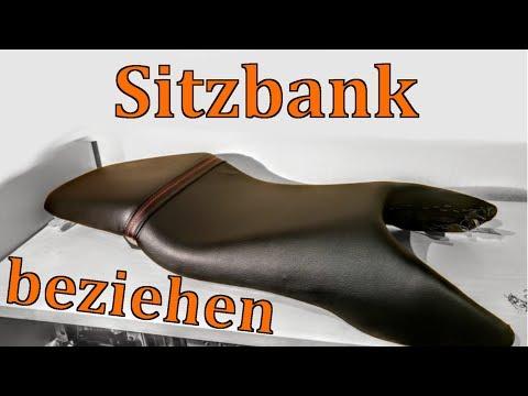 SITZBANK FÜR 10 € NEU BEZIEHEN | Do it yourself | Motorradsitzbank Sattel