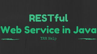 Creating a Restful webservice in java